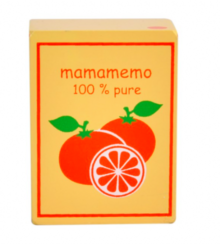 Mamamemo Wooden Play Food - Orange Juice Carton